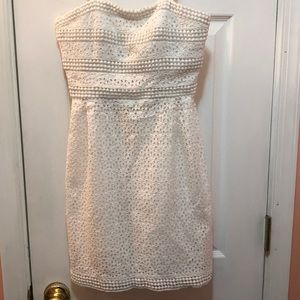 White lace strapless dress Laundry by Shelli Segal